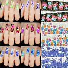 Sweet Flower DIY Nail Art Tips Water Transfer Stickers Decal Wraps Decorations