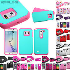 Hybrid Hard Case Shockproof Heavy Duty Protective Cover for Various Phones
