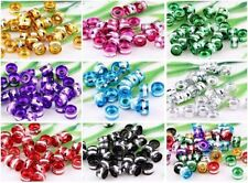 100pcs 9Color- Random Mixed Aluminum Tube Spacer Bead Findings 6x4mm Hole 2mm