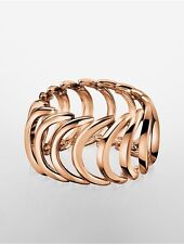 calvin klein womens body rose gold ring