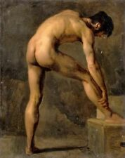 Academic Study of Man by Achille Etna Michallon - Classic French Male Nude Art