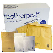 FeatherPost Padded Envelopes Jiffy Style bubble Mail bags A/000 B/00 C/0 D/1 E/2