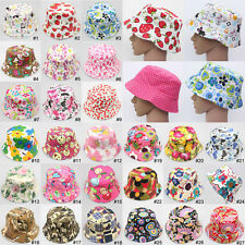 Bucket Sun Canvas Hat Kid Baby Boonie Floral Camping Hunting Fishing Outdoor Cap