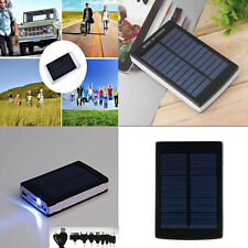 30000/50000/80000mAh Solar Panel Power Bank LED Dual USB Battery Charger Backup