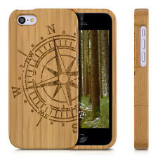 kwmobile WOOD COVER FOR APPLE IPHONE 5C BAMBOO CASE BACK HARD NATURAL MOBILE