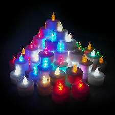 LED Candle Tealight Battery Flameless Wedding Party Halloween Birthday LOT