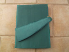 faux silk lined curtains in teal with matching tie backs