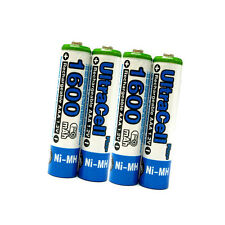 6 AAA 3A 1600mAh NIMH 1.2V Volt Rechargeable Battery HR03 LR03 Ultracell Blue