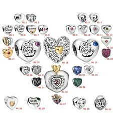 Heart shape European bead for 925 sterling silver charms bracelet necklace UK-A