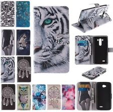 For LG Optimus G3/L70/L90 Sexy Magnetic PU Leather Slot wallet Cover Case Holder