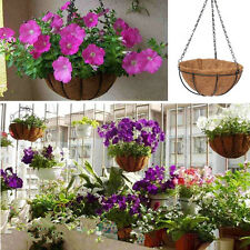 Country Garden Style Iron Hanging Flower Basket Window Trough + CoCo Liner Pots