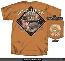 Southern Strut Wood Duck Born In The South Cotton Short Sleeve Pocket T Shirt