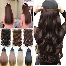 CA Lady half full head thick hair clip in hair extensions colorful hairpiece 1P5