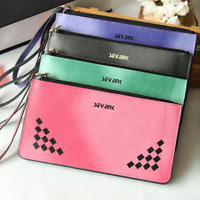2015 New Women's Wallet Wristlet Card Holder Long Clutch Zipper leather Purse