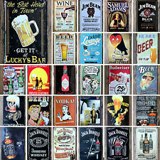 55 Type Wine Beer Metal Sign Plaque Tin Poster Cafe Shop Tavern Wall Retro Decor