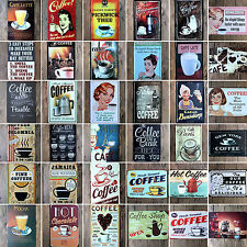 55 Type Coffee & Dessert Metal Sign Plaque Tin Poster Cafe Shop Wall Retro Decor