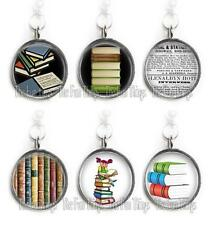 Books Love of Reading Charm for Bracelet or Necklace 20mm Glass Top Dome Pick 1
