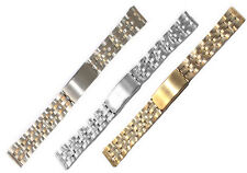 STAINLESS STEEL Replacement Bracelet Watch Strap Fold Over Clasp 18mm and 20mm