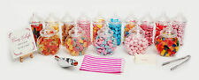 Plastic Sweet Jars Tongs & Bags Candy Buffet Wedding Party Kids Pick Mix