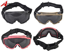 Tactical Airsoft Paintball Military Hunting Safety Goggle Glasses Fan Version