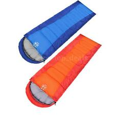 1.5kg Waterproof Travel Camping Portable Envelope Hooded Sleeping Bag Outdoor