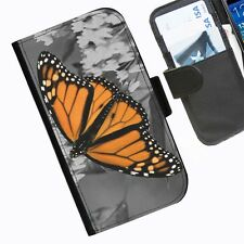 Butterfly Ornage Leather pu phone case for iPhone Samsung Sony Huawei Blackberry