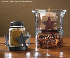 Star Candle Pans by Park Designs, Choice of Red of Black, Votive or Pillar Size