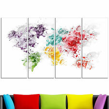 Design Art 'Color Splash World' Map Canvas Art Print
