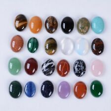 Wholesale 20mm Oval cabochon CAB flatback semi-precious gemstone Save $ in bulk