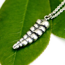 Texas Rattlesnake Tail Necklace Solid Sterling Silver Snake Rattle Rattler 112