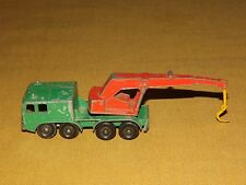 "VINTAGE TOY 3"" LONG MADE IN ENGLAND LESNEY MATCHBOX 8 WHEEL CRANE TRUCK"