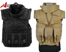 Tactical Military SDU Airsoft Paintball Wargame Plate Carrier Combat Vest BK/TAN
