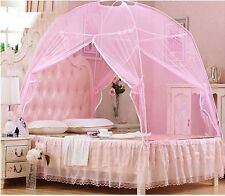 Pink Hight QC Bed Canopy Mosquito Net Tent  For Twin Queen Small King Bed Size