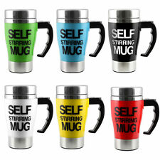 NEW Stainless Lazy Self Stirring Mug Auto Mixing Tea Coffee Cup Office Home Gift