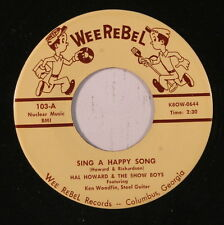 HAL HOWARD: Sing A Happy Song 45 Country