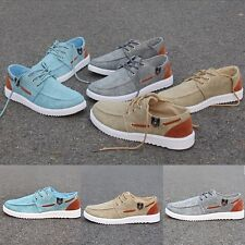 New Man Canvas Lace Up Sneakers England Running Sports Shoes Comfy Skateboard