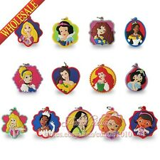 4PCS Princess Snow White Sofia Doc McStuffins Pendants Charms for Keychains Gift