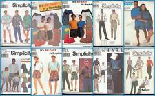 Simplicity Sewing Pattern Mens and Unisex Pants Trousers Slacks Shorts You Pick