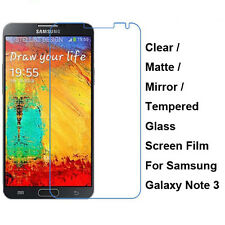 Tempered Glass/Clear/Matte/Mirror Screen Protector For Galaxy Note 3 III N9000