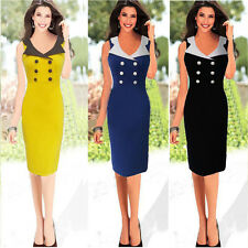 Women Celeb Slim Bodycon Evening Party Cocktail OL Work Business Pencil Dress