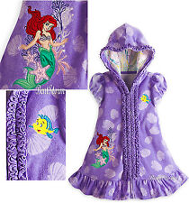 The Little Mermaid Ariel Swimsuit Cover-Up Hooded Robe 4 5/6 7/8 Disney Store