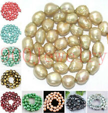 Freeform 9-10mm Cultured Rice Oval Fresh Water Pearl Loose Bead Jewelry Findings