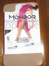 NEW Mondor Women Ice skate dance 3312 Suntan Footless TIGHTS Small thru XLarge