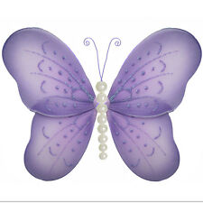 Butterfly Decor Purple Lavender Decorate Walls Room Hanging Nursery Girl Party