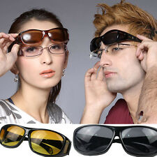 fanshion HD Night Vision Unisex Driving Sunglasses Nice Over Wrap Around Glasses
