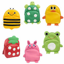 Cute Animal Pattern PU Leather Animal Backpack Schoolbag For Children Toddler