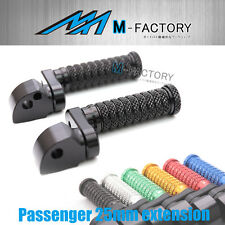 M-Grip Billet 25mm Passenger Extended Foot Pegs Fit Yamaha FZ1 /S Fazer 06 07-15