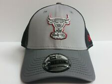 Chicago Bulls Cap New Era 39Thirty Stretch Fit Fitted Hat Grayed Out Neo