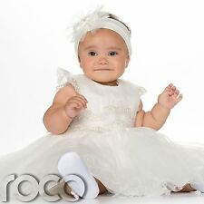 Baby Girls Ivory Dress, Christening Dress, Ivory Christening Outfit