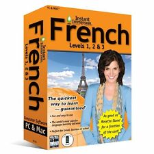 Learn How To Speak French With Instant Immersion Levels 1-3 Retail Box